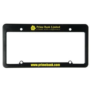 License Plate Frame w/ 4 Holes & Straight Top