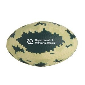 Digital Camo Football Squeezies® Stress Reliever