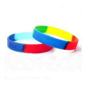 Debossed and segmented Silicone Bracelet