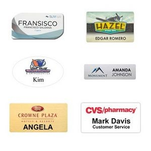 Digitally Printed Name Badge All Sizes