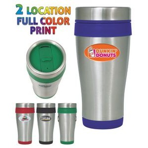 16 Oz. Stainless Steel Insulated Travel Tumbler