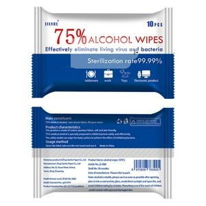 75% Alcohol Sanitizing Wet Wipes 10pc/pack