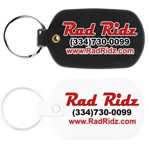 Oval Flexible Key Tag with Full Color Digital Print