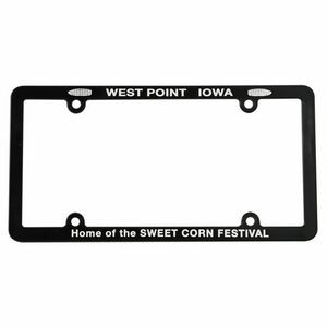 Screened Full View License Plate Frame with 4 Holes