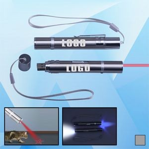 3-in-1 UV LED Flashlight with USB Port