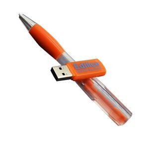 Plastic Ballpoint Pen USB Flash Drive