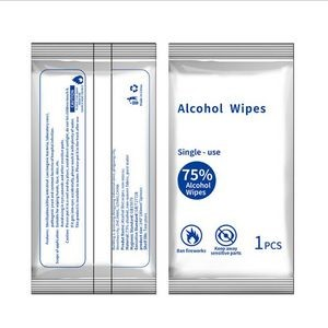 75% Alcohol Sanitizing Wipes For 1pcs Per Bag