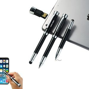 4GB USB Drives Metal Pen With Stylus