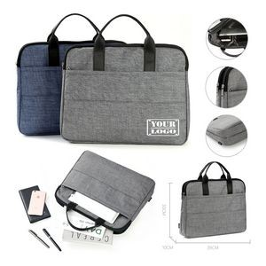 Dual Zipper Laptop Bag