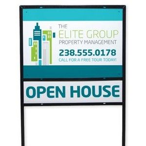 "Full Color Metal Yard Sign w/Frame (18""x24"")"