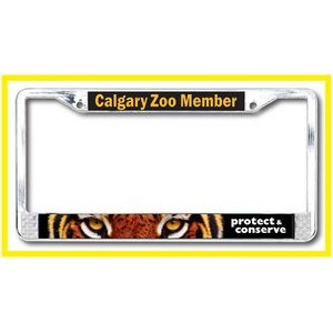 Dome Sticker Metal License Plate Frame