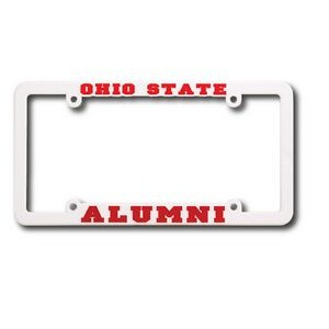 Ohio High High View Raised Copy Plastic License Plate Frame
