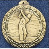 "2.5"" Stock Cast Medallion (Golf/ Male)"