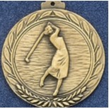 "2.5"" Stock Cast Medallion (Female Golf)"