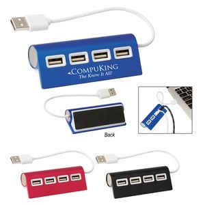 4-Port Aluminum Wave USB Hub