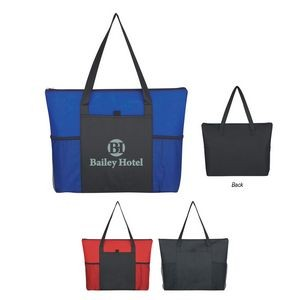 Non-Woven Voyager Zippered Tote Bag