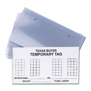 Clear Temporary License Plate Protector