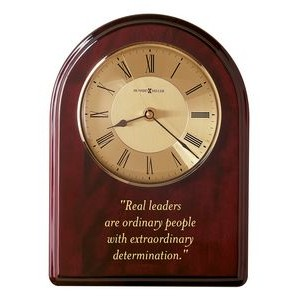 "Howard Miller Honor Time III 13 1/2"" Arch Award Clock Plaque"