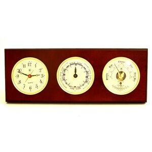 Tide & time Clock w/ Weather Station - Mahogany
