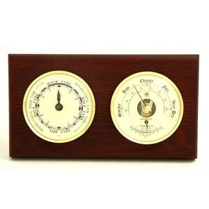 Tide Clock w/ Weather Station - Mahogany