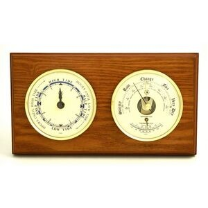 Tide Clock w/ Weather Station - Oak