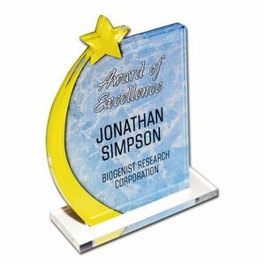 Custom Acrylic Desk Plaque W/ Stand (Up to 20 Square Inch)
