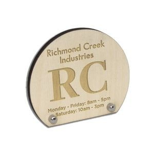 Laser Etched Birch Desk Plaques with Posts