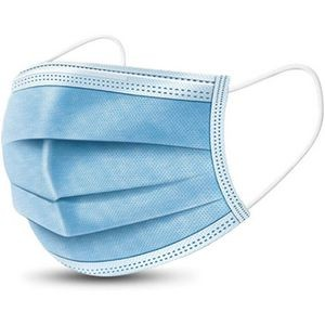 3-Ply Face Masks - Standard Breathable Melt-Blown Filter Disposable Face Masks - ASTM Level 3