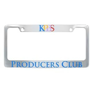 Chrome Plated Zinc Alloy License Plate Frame (Domestic Production)