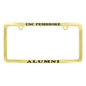 Clear Coated Solid Brass License Plate Frame (Domestic Production Only)