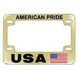 Clear Coated Solid Brass Motorcycle License Frames (Domestic Production)