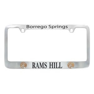 Chrome Plated Solid Brass License Plate Frame (Domestic Production Only)