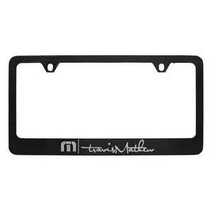 Black Coated Zinc Alloy License Plate Frame (Overseas Production)