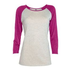Platinum Ladies' Tri-Blend � Sleeve Raglan Tee