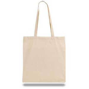 "Lightweight Canvas Convention Tote Bag with Shoulder Strap - 1 Color (15""x16"")"