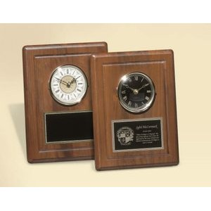 Solid American Walnut Clock w/White Face