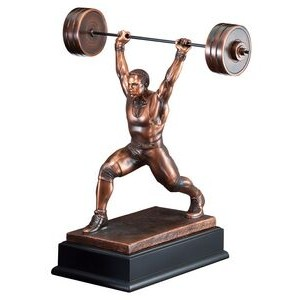 "Weight Lifter - Male 14-1/2"" Tall"