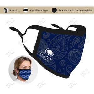 US Stock-3 ply Sublimation Cooling Face Mask MOQ: 25pc