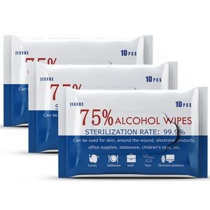 Alcohol Wipes, 10's