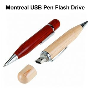Montreal USB Pen Flash Drive - 128MB Memory
