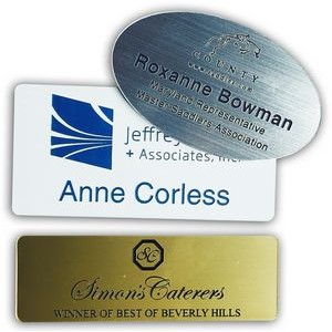 "Plastic Engraved Name Badge (1""x3"")"