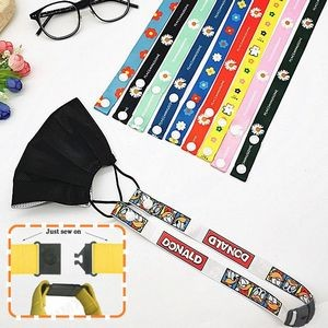 Full Color Safety Breakaway Face Mask Lanyard w/ Snap Button
