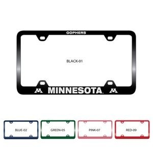 Colored Zinc Alloy License Plate Frame w/ Laser Engraving