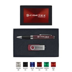 Torpedo Ballpoint Pen and 8GB Swivel USB Gift Set