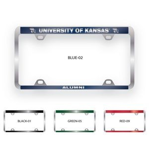 Brushed Zinc & Colored License Plate Frame (Narrow Bottom Engraving)