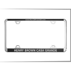 Chrome Plated License Frame w/ Small Top Engraving
